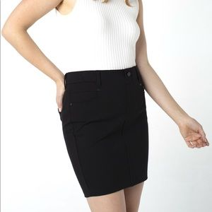 Liverpool Black Gia Pull-On Pencil Skirt 12